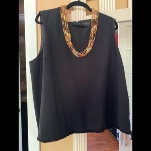 Victoria Beckham black sleeveless tank!!